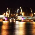 Night view of Bridge. St Petersburg, Russia — Stock Photo