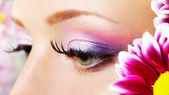 Eye closeup with makeup. — Stock Photo