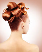 Creative hairstyle — Stock Photo