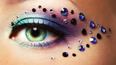 Eye closeup with makeup — Stock Photo