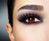 Eye with black fashion make-up — Stock Photo