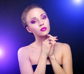 Beautiful make-up — Stock Photo