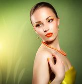 Sensual woman with beautiful make-up — Stock Photo