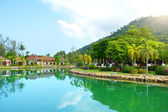 Green garden with lake. Klong Prao, Koh Chang — Stock Photo