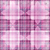 Repeating pink checkered pattern — Stock Vector