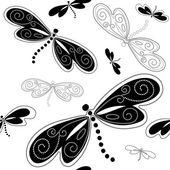 Seamless white-black pattern — Stock Vector