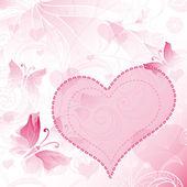 Zachte valentines frame — Stockvector