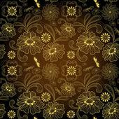 シームレスな暗いビンテージ パターン — ストックベクタ