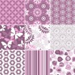 Set pastel seamless patterns - Stock vektor