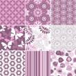 Set pastel seamless patterns — Stock Vector #13809464