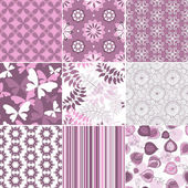 Set pastel seamless patterns — Stock Vector