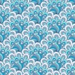 Royalty-Free Stock Векторное изображение: White-blue-gray seamless pattern