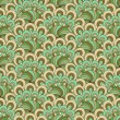 Green-brown-gray seamless pattern - Grafika wektorowa