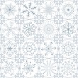 Stock Vector: Christmas silvery repeating pattern