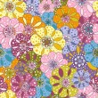 Seamless floral motley pattern — Stockvectorbeeld