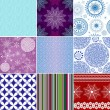 Royalty-Free Stock Vector Image: Set seamless christmas patterns