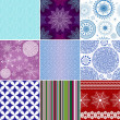 Set seamless christmas patterns — Stock Vector