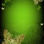 Green vintage frame — Stock Vector