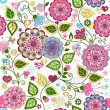 Seamless valentine colorful pattern - Stock Vector