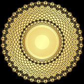 Vintage kare altın — Stok Vektör