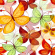 Seamless vivid  autumn pattern — Stock Vector