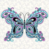Decorative fantasy vintage butterfly — Stock Vector
