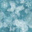 Christmas silvery seamless pattern - Stock Vector