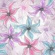Seamless spring floral pattern - Stockvectorbeeld