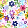 Spring colorful seamless floral pattern — Stock Vector