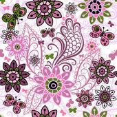 Seamless spring vintage pattern — Stock Vector