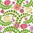Easter seamless floral pattern — Stock Vector