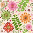 Stock Vector: Spring colorful seamless floral pattern