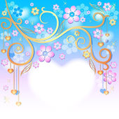 Spring pink easter frame — Stock Vector