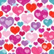 Seamless valentine pattern - Stock Vector