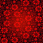 Seamless dark-red floral pattern — Stock Vector