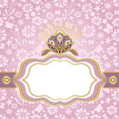 Marco de pascua primavera rosa de oro — Vector de stock