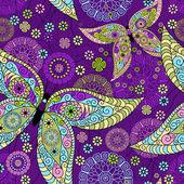 シームレスな春紫パターン — ストックベクタ