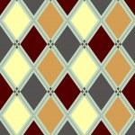 Seamless pattern in rhombuses — Stock Vector #2457902