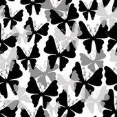 White pattern with butterflies (Seamless) — Vecteur