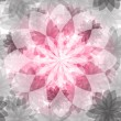 Floral pink-gray seamless pattern — 图库矢量图片