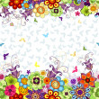 Seamless floral spring pattern — Stock Vector