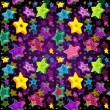 Bright seamless pattern Christmas Star — Imagen vectorial