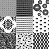 Big set seamless vintage pattern — Stock Vector