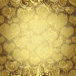 Gold seamless valentine pattern  — Stock vektor