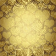 Gold seamless valentine pattern — Cтоковый вектор #32327495