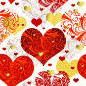 Vintage seamless valentine pattern — Stock Vector