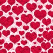 Vintage seamless valentine pattern — Stockvectorbeeld