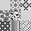 Set seamless vintage pattern — Stock Vector