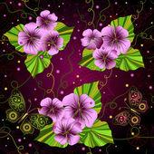 Transparente motif floral de sombre — Vecteur