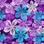 Modello vivida primavera floreale senza soluzione di continuità — Vettoriale Stock
